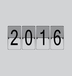 flip board 2016 vector image vector image