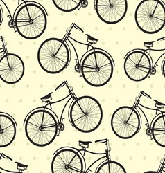 hipster bike patern resize vector image vector image