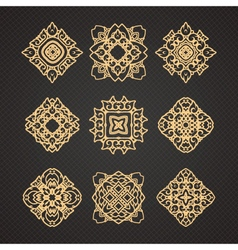 set of thai art design vector image