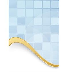 Blue tiles - abstract modern folder template vector image vector image