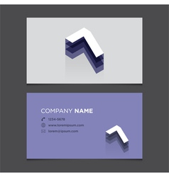 business card number 7 vector image vector image
