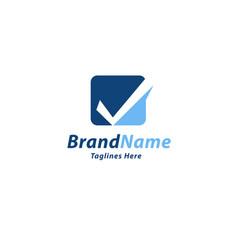 check mark color logo vector image