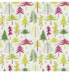 christmas tree geometric vector image vector image