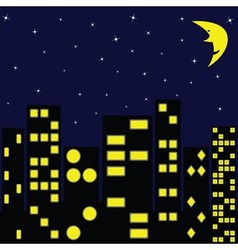 city in night vector image