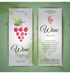 Grapes or Wine concept design Corporate identity vector image vector image