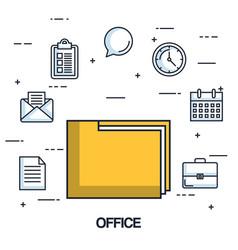 office folder file archive organization document vector image