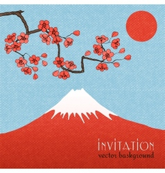 Sakura invitation card background or poster vector image