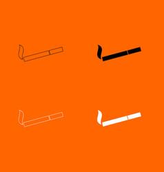 smoking symbol cigarette icon vector image