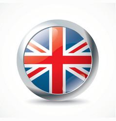 United Kingdom flag button vector image