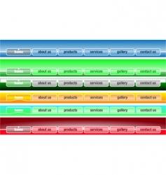 web site menu templates vector image