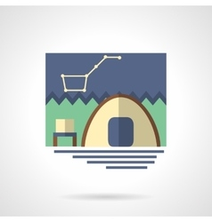 Campsite flat color icon vector image vector image