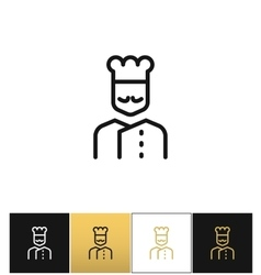 Cook line icon vector image