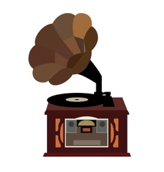 Isolated retro turntable vector