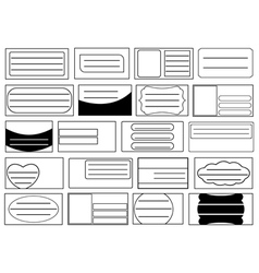 Set of different school notebook labels vector image vector image