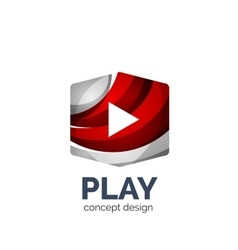 video play logo template vector image