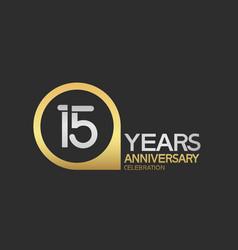 15 years anniversary celebration simple design vector