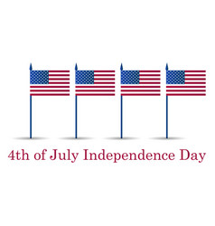 4th july independence day festive banner with vector