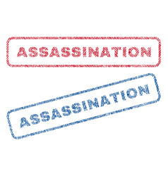 Assassination textile stamps vector