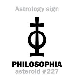 Astrology asteroid philosophia vector