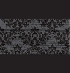 Baroque pattern texture royal fabric vector