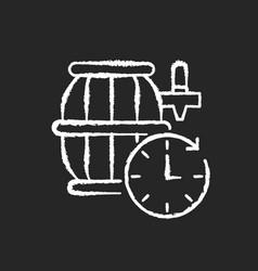 barrel aged beer chalk white icon on black vector image