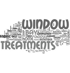 bay window treatments text word cloud concept vector image