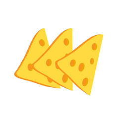 cheese slices collection vector image