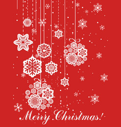 christmas greeting card in vector image