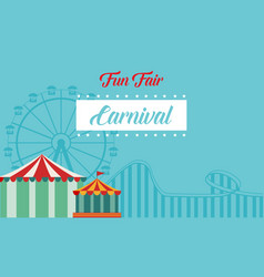 Collection background carnival funfair style vector