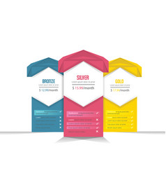 Collection of banner pricing plans vector