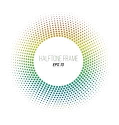 color halftone dotted frame Round banner Stock vector image