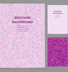 Colored abstract triangle design brochure template vector