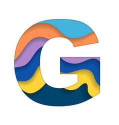 Colorful letter g vector