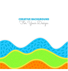 Colorful seamless background with abstract vector