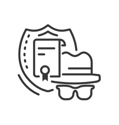 Confidentiality - line design style single vector