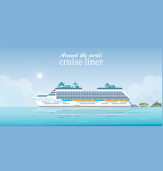 cruise liner passenger ship vector image