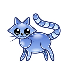Cute cartoon cat isolated vector image