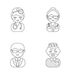 Doctor scientist businessman prisoner vector