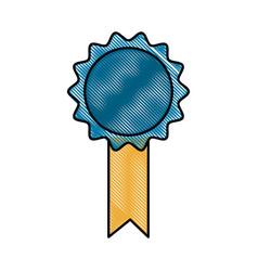drawing premium certificate medal award vector image