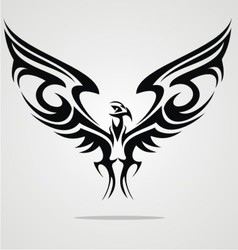 Eagle Bird Tattoo Design vector image