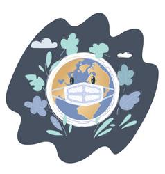 earth globe on dark wearing vector image