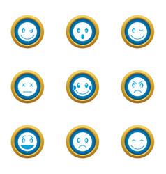 emotional bond icons set flat style vector image