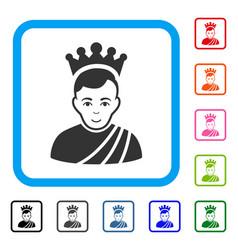Emperor framed enjoy icon vector