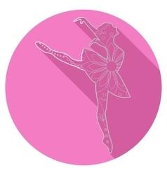 Flat icon of ballet dancer vector image vector image