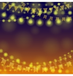 Garland Festival Background vector image