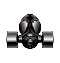 Gas mask on white background vector