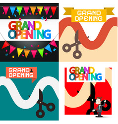 Grand opening designs set vector