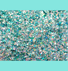 green and blue sparkles green glitter background vector image