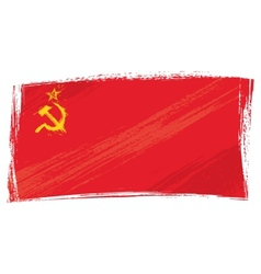 Grunge Soviet Union flag vector image