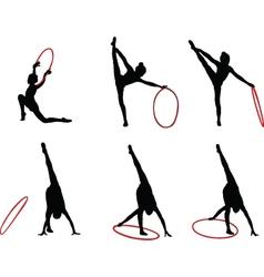 gymnastics girls - vector image